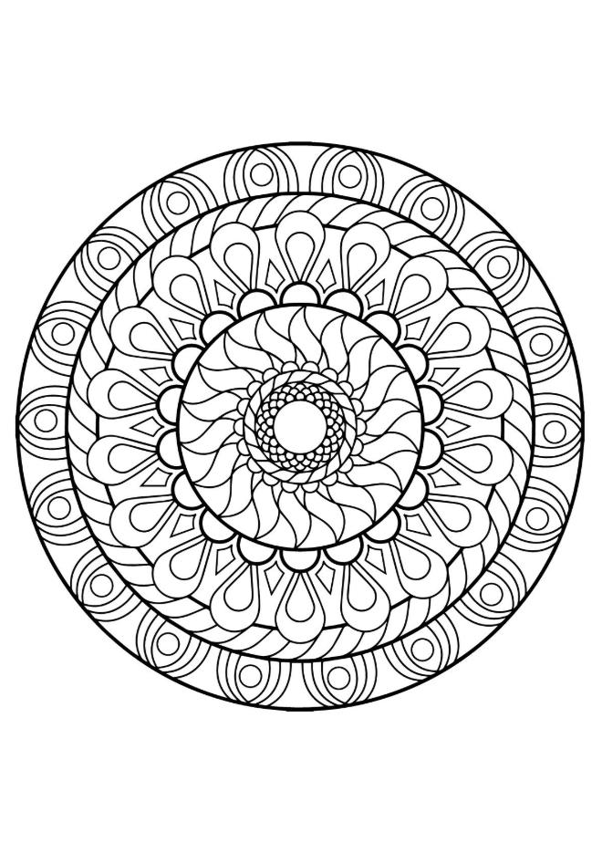 Flower Mandala Coloring Page Coloring Mandalas Coloring