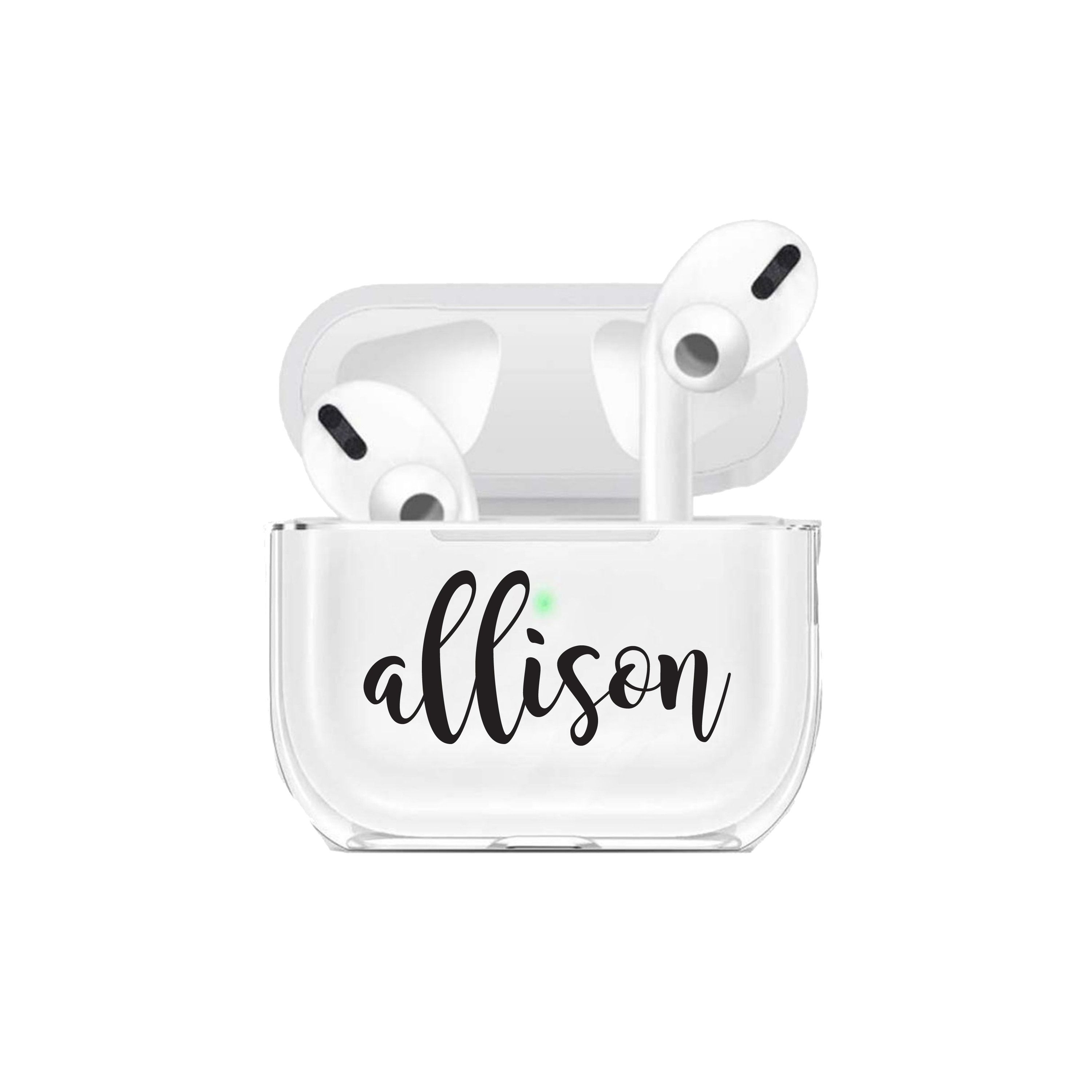 Airpods Pro Case Customized Inital Airpods Pro Case Personalized Gift Air Pod Pro Case Clear Airpod Pro Case Personalize Name Custom Airpods Air Pods Cool Gadgets On Amazon Case