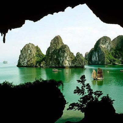 Halong Bay in Quáng Ninh province, Vietnam - I stood right where this picture was taken!