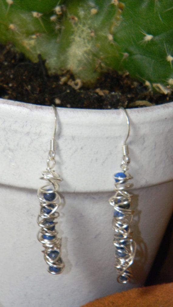 Caged sodalite earrings  $19.95 usd