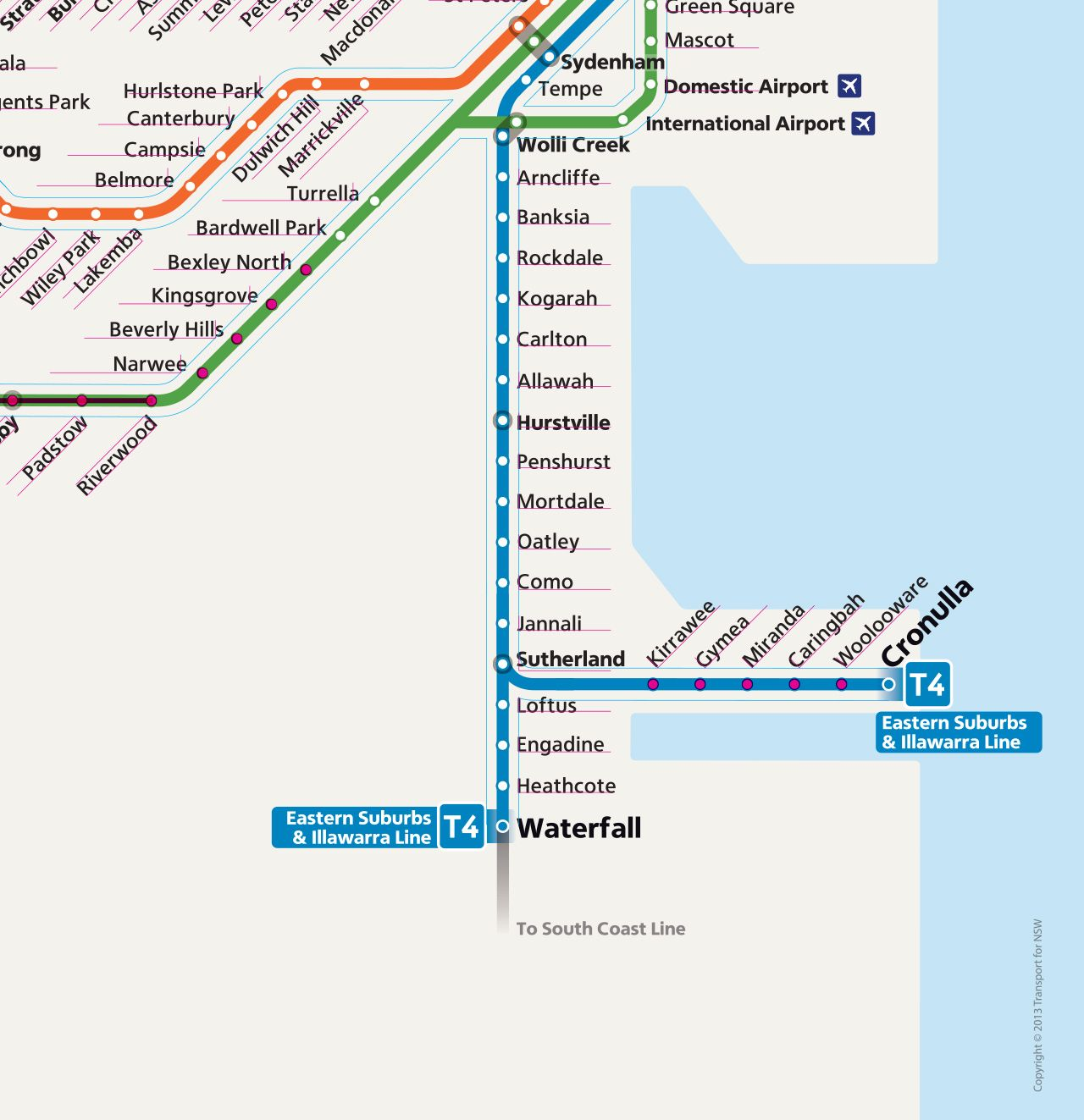 Technical Review New Sydney Trains Network Map It seems that the
