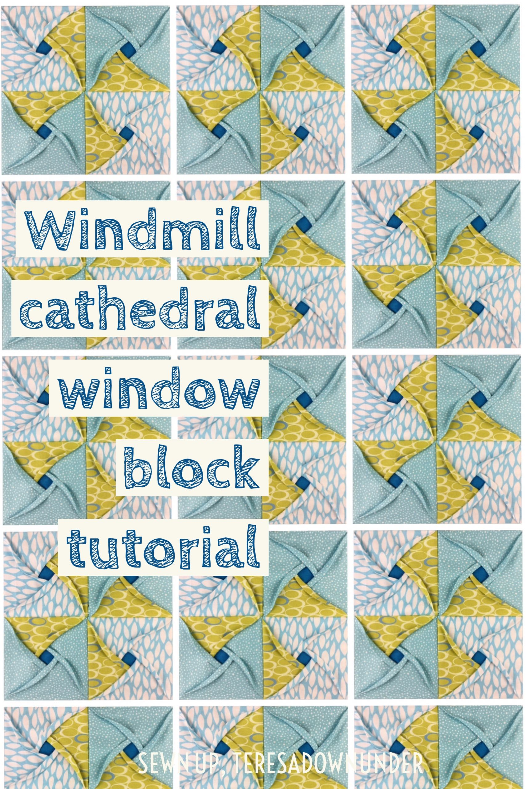 Video tutorial: Windmill cathedral window – quilt block ... : cathedral window quilt block instructions - Adamdwight.com
