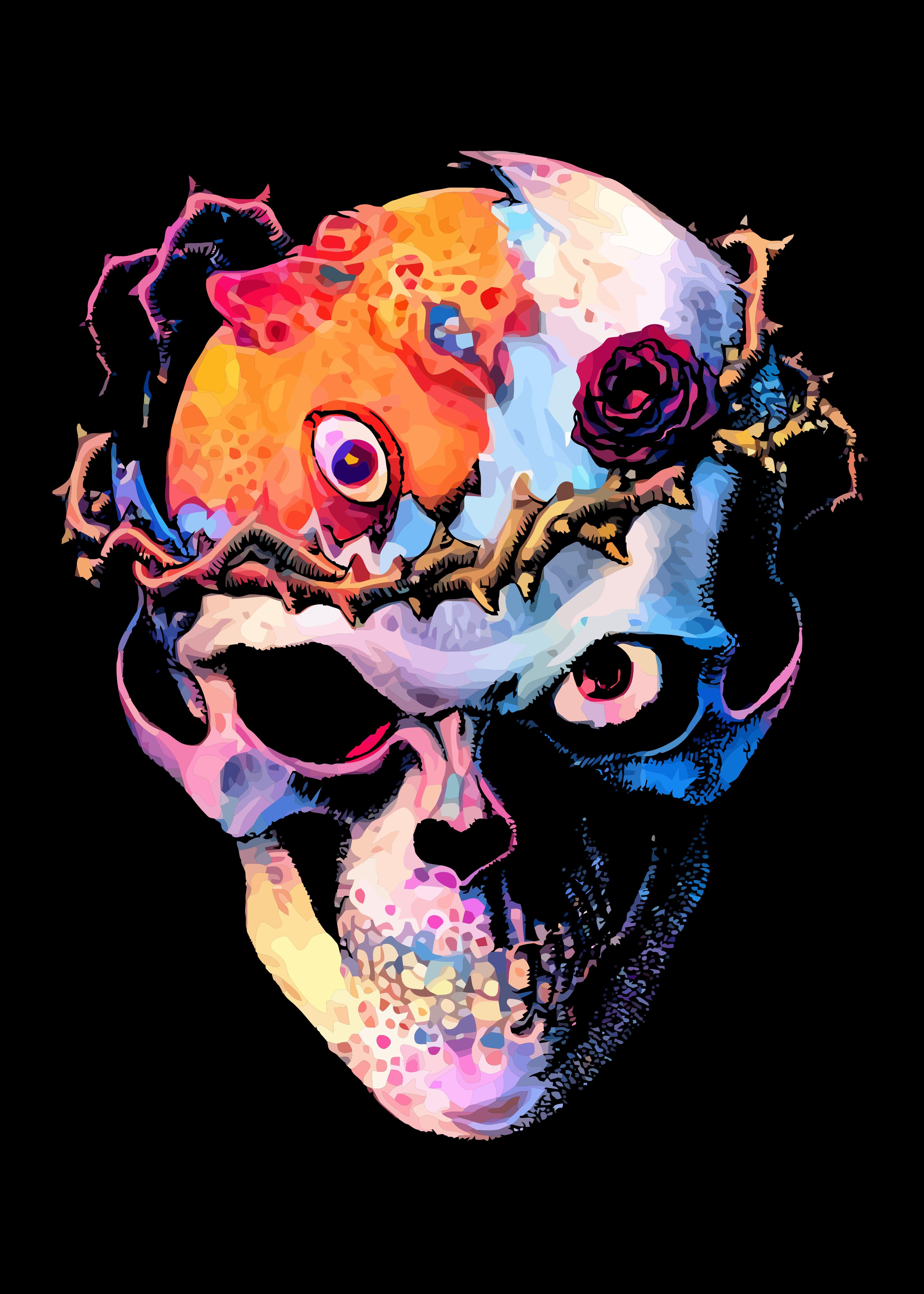 Neon Skull | Displate thumbnail