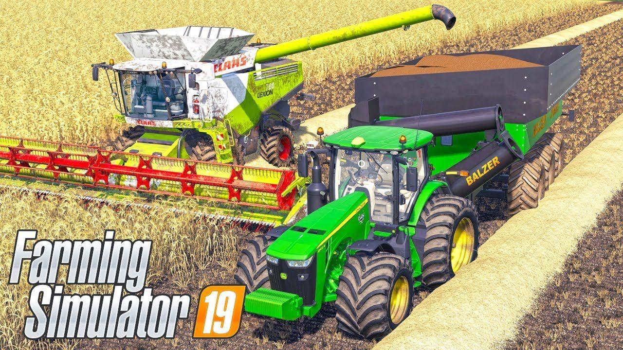 First Harvesting on HONEY DEW Map - Farming Simulator 19