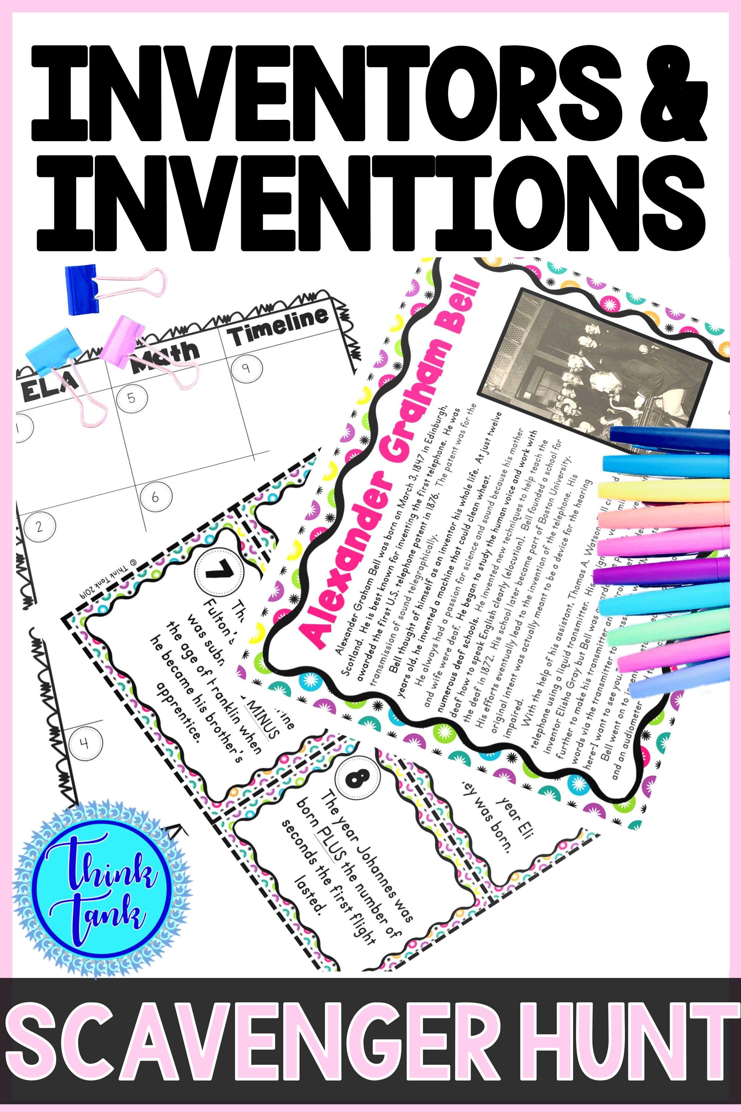 Inventors Amp Inventions Scavenger Hunt