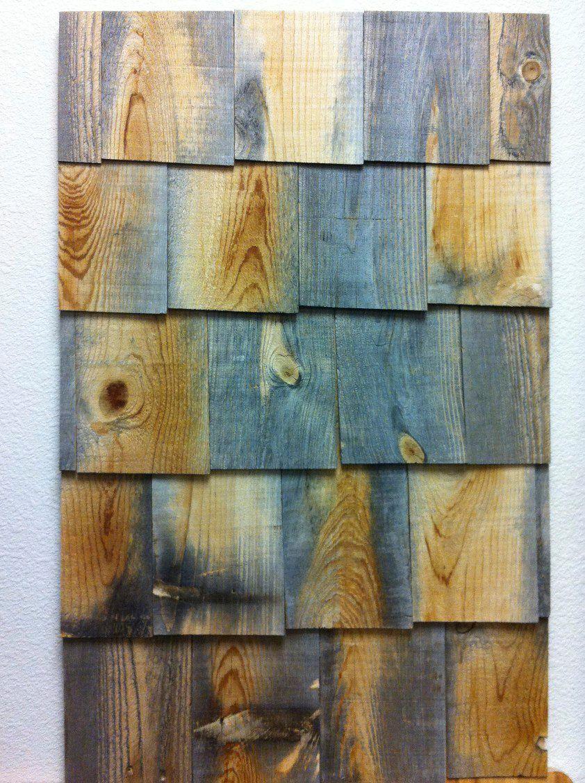 Indoor Stikwood Shingle Wall Weathered wood, Wood, Stikwood
