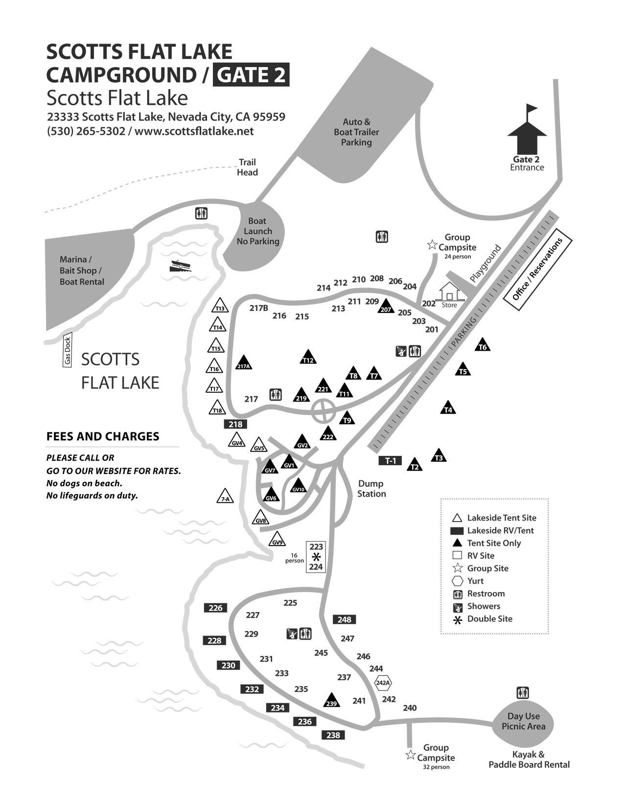 Scotts Flat Lake Campground Maps Nid Recreation Campground Lake Boat Rental