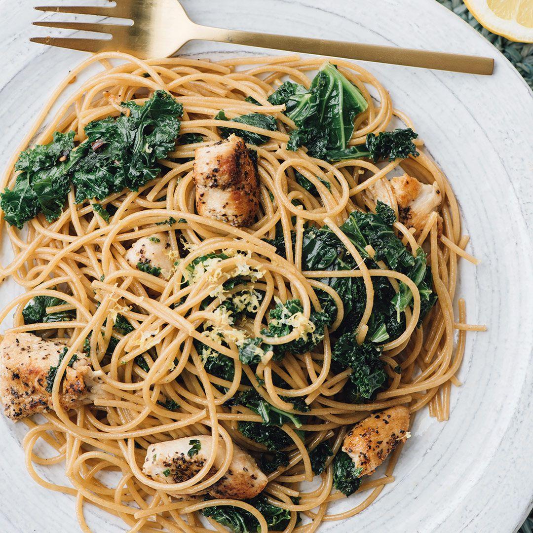 Whole Wheat Pasta With Lemon Kale Chicken Recipe b