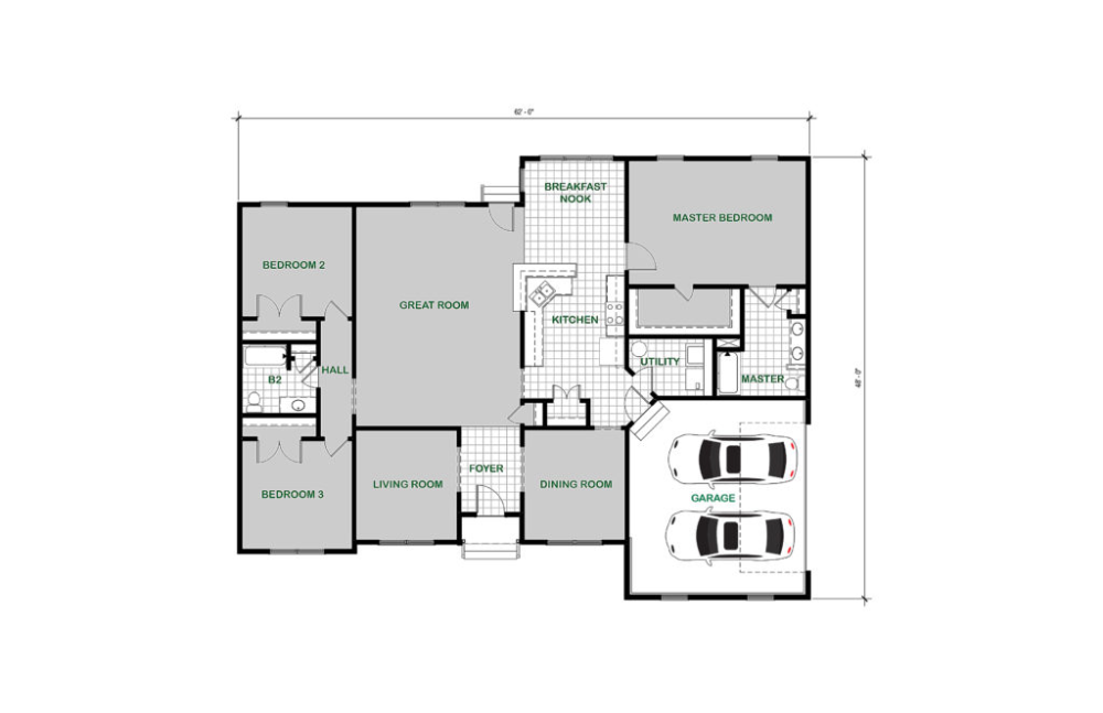 Winchester Custom Home Floor Plan
