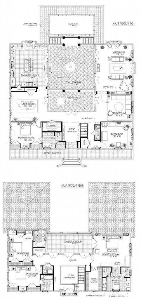 Wonderful French Country House Plans Denah Lantai Rumah Denah Rumah Pedesaan Denah Lantai