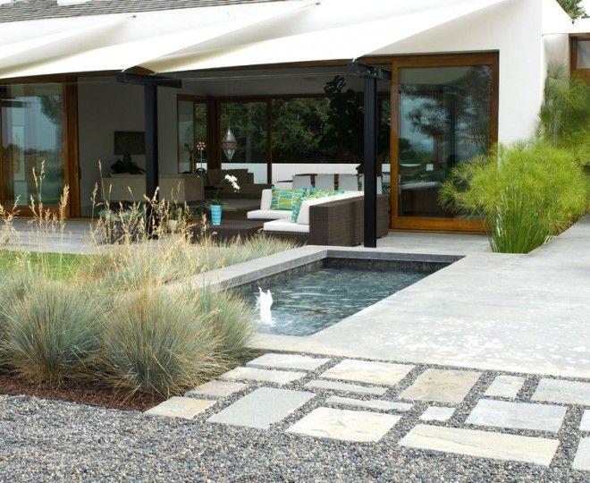 Concrete Patios trend in San Diego. Modern Landscape Image Ideas ...