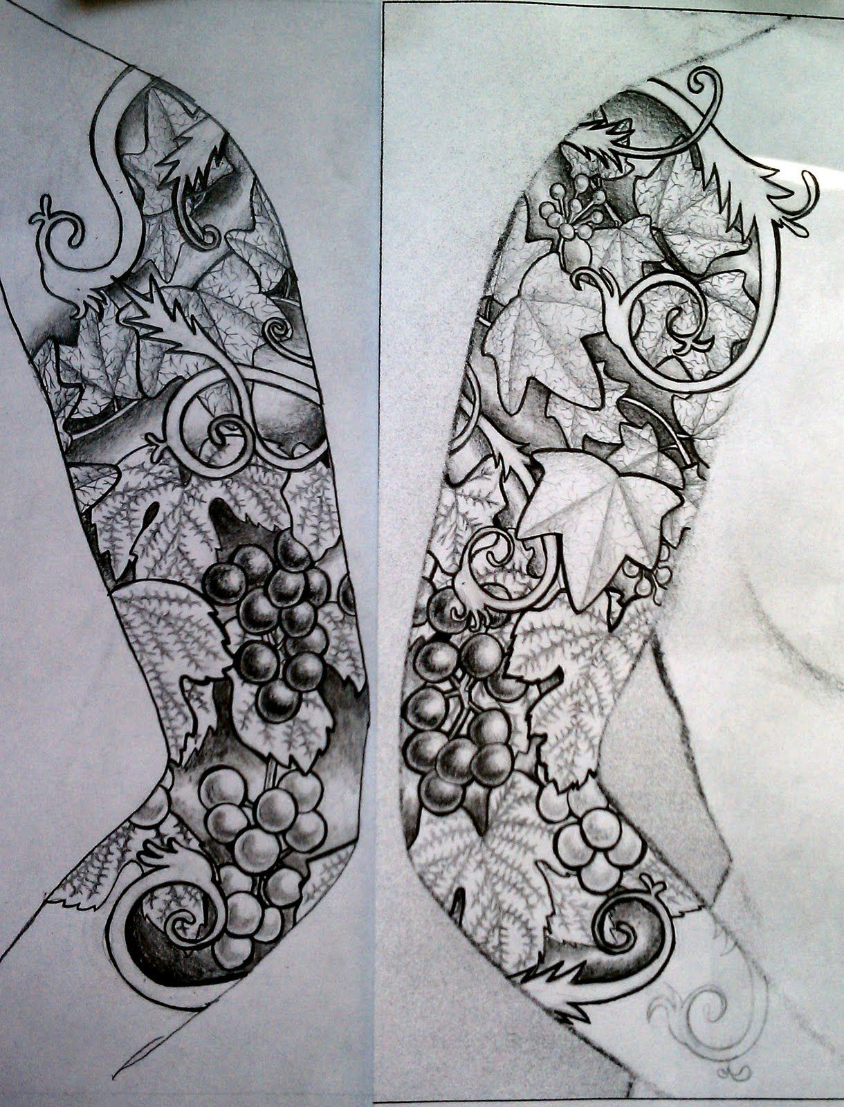 Microcosm Leaf Sleeve Tattoo Design Sleeve Tattoos Half Sleeve Tattoos Designs Half Sleeve Tattoos Drawings