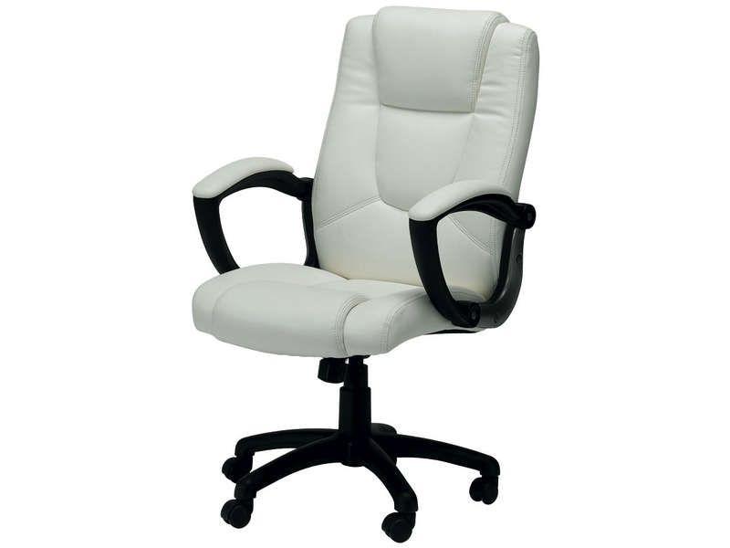 Conforama Chaise De Bureau Fauteuil De Bureau Sam Coloris Blanc