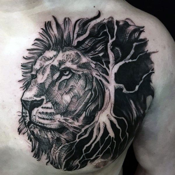 Top 73 Lion Chest Tattoo Ideas 2020 Inspiration Guide Tattoos For Guys Lion Chest Tattoo Lion Tattoo Design