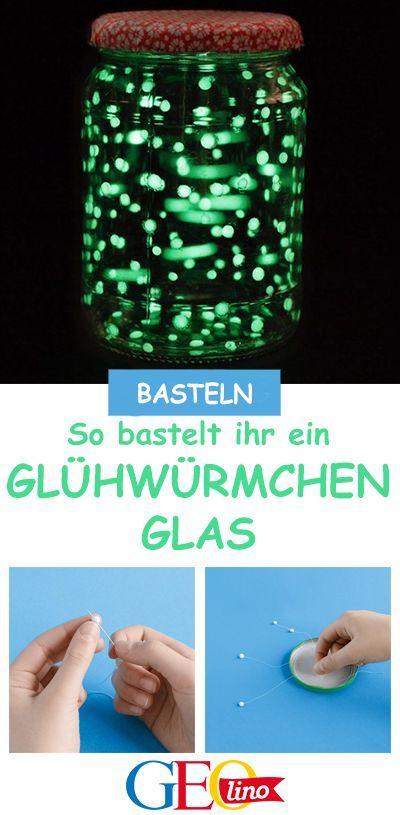 Experiment: Glühwürmchen im Glas #bastelideenkinder