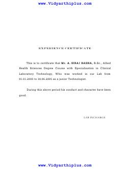 Filename experience certificate01g size 1115 kb 24 06 2015 certificate spiritdancerdesigns Gallery