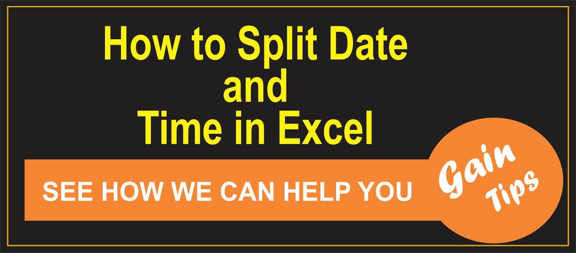 How To Split Date And Time In Excel