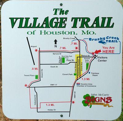 A Map Of The Village Trail Through Houston Mo Missouri