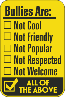 Free anti bullying signs