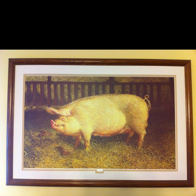 """""""Pig"""" by James Wyeth has to stay in my kitchen too. So I'm decorating around this print."""