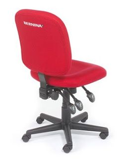 My New Red Bernina Chair Sewing Chair Sewing Room Furniture My
