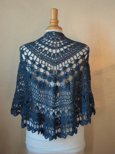 one skein crochet shawl pattern free | Crochet Wraps | Pinterest