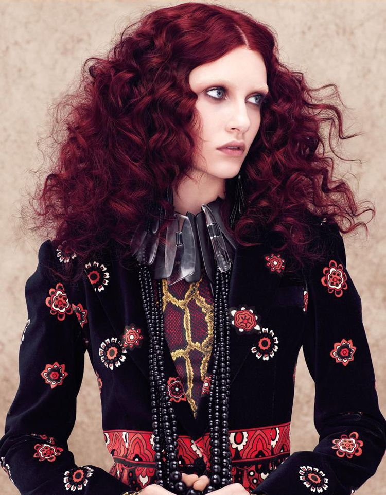Aveda Culture Clash Collection Springsummer 2014 Red Violet Hair