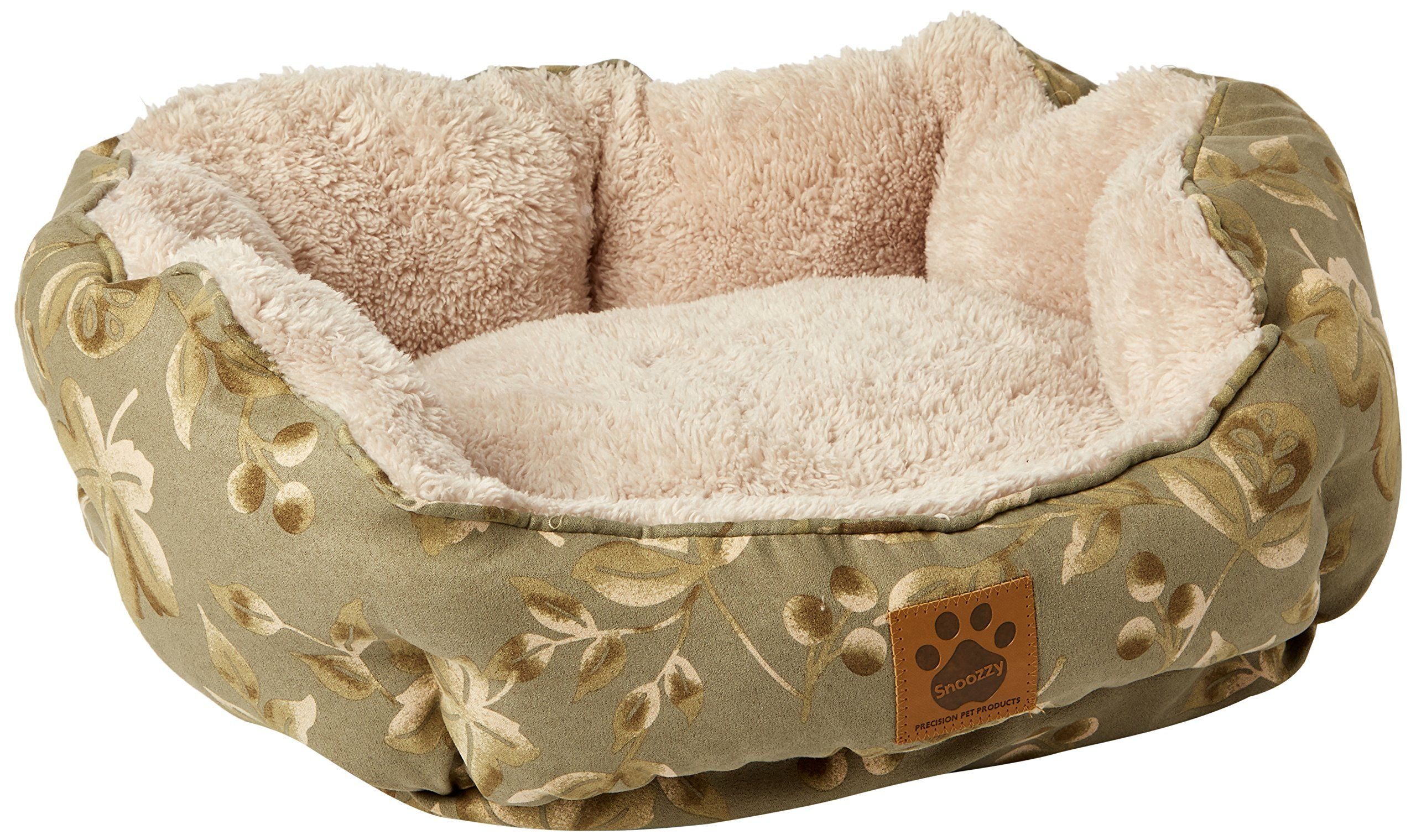 Precision Pet Clamshell Bed Green Print Be Sure To Check Out This Awesome Product It Is An Affiliate Lin Dog Bed Furniture Green Bedding Clamshell Dog Bed