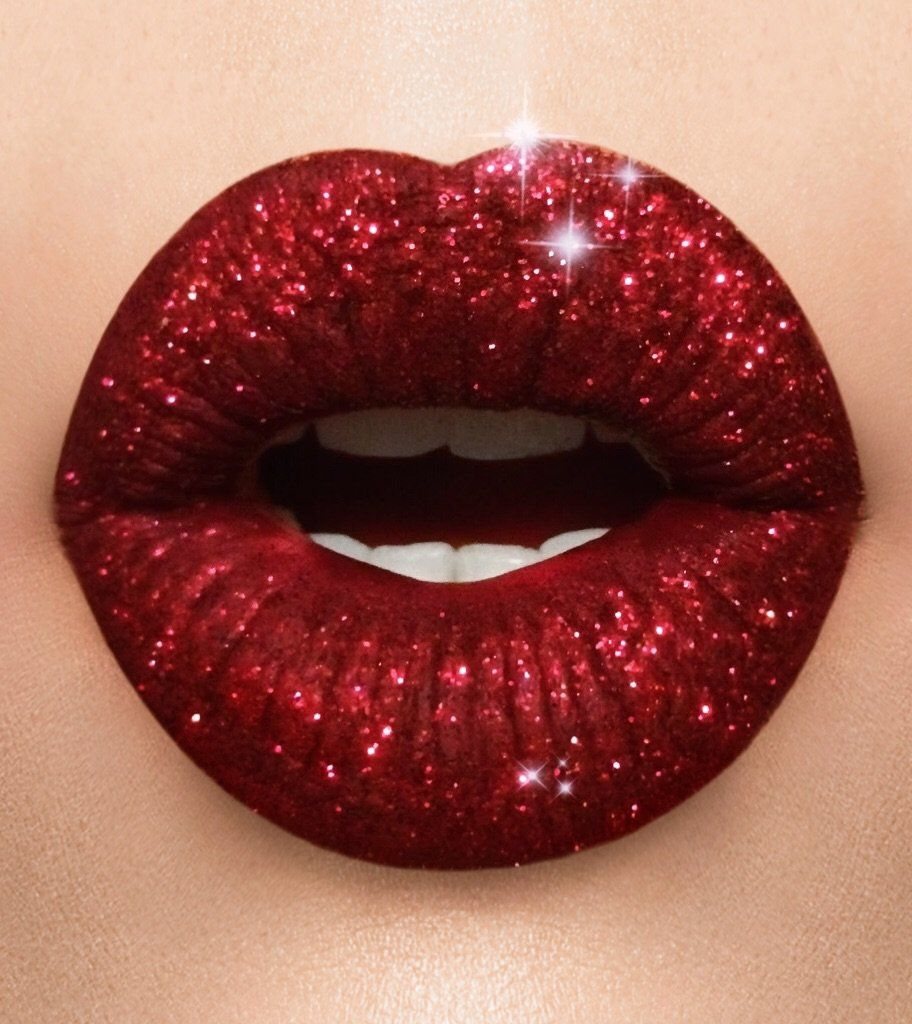 Holiday Red Glitter Lipstick Collection Glitter Lipstick