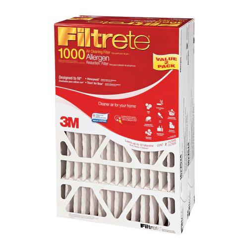 Filtrete 2Pack 1000 MPR Micro Allergen 20in x