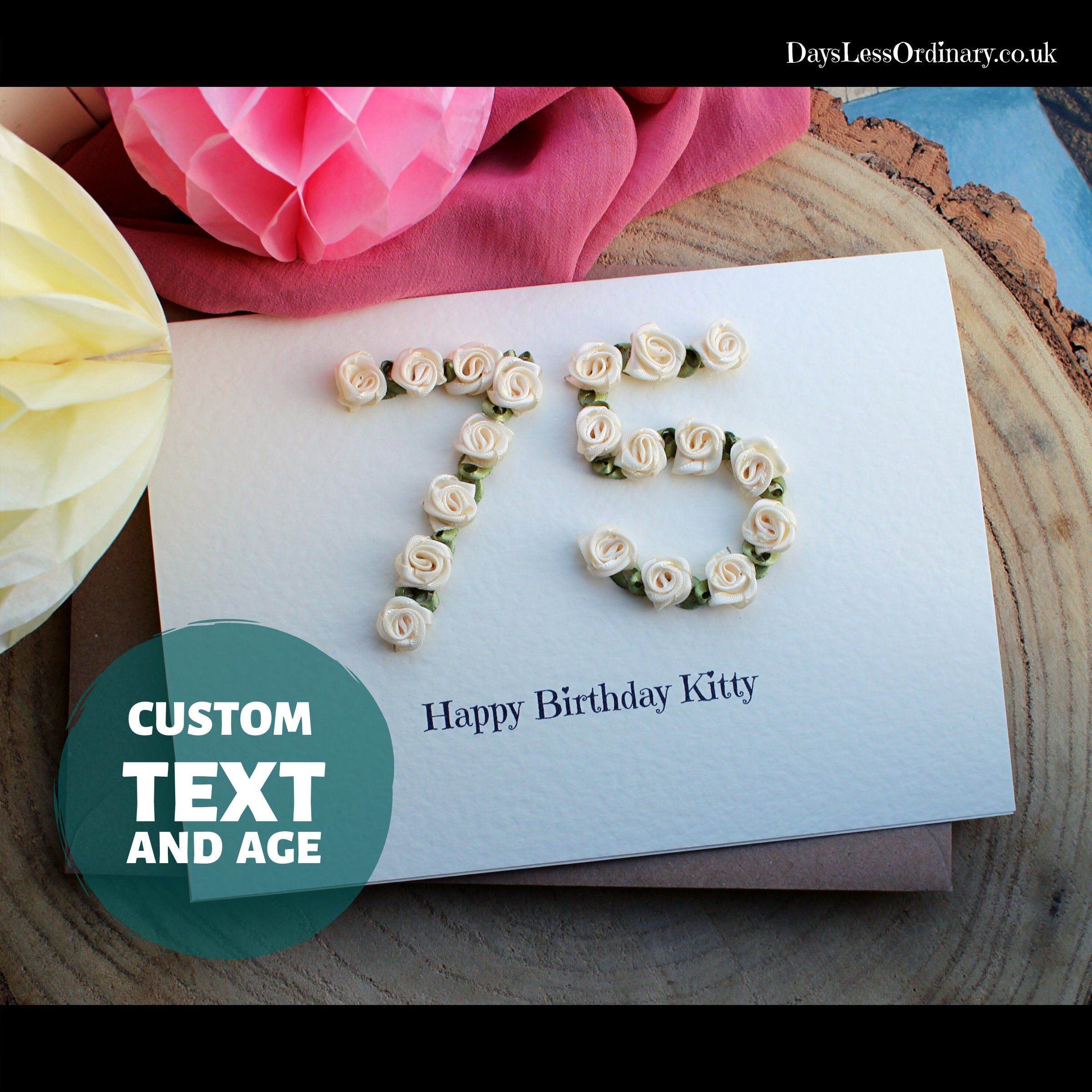 Personalised 75th Birthday Gift Wife, Boxed Special Age
