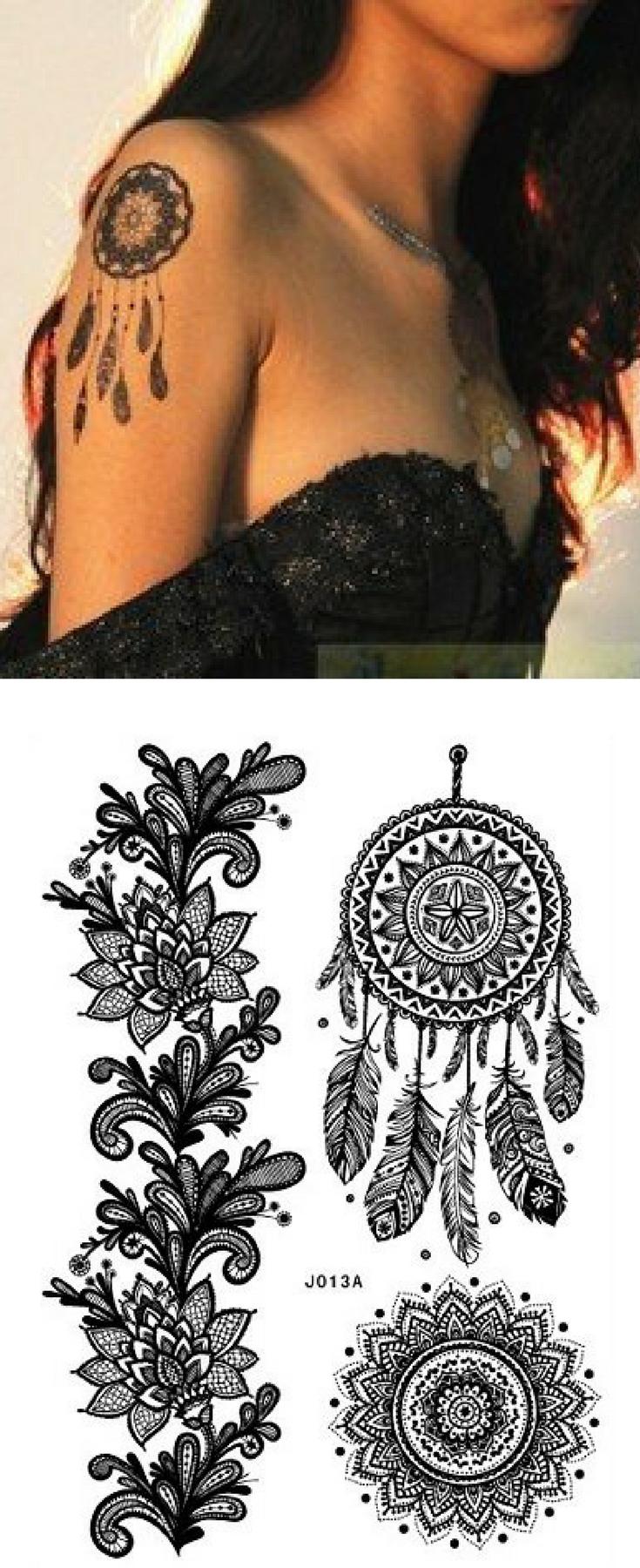 Henna Tattoo Schwarz Allergie: Henna TATTOO SCHWARZ Black Fake Flash Tattoo Aufkleber