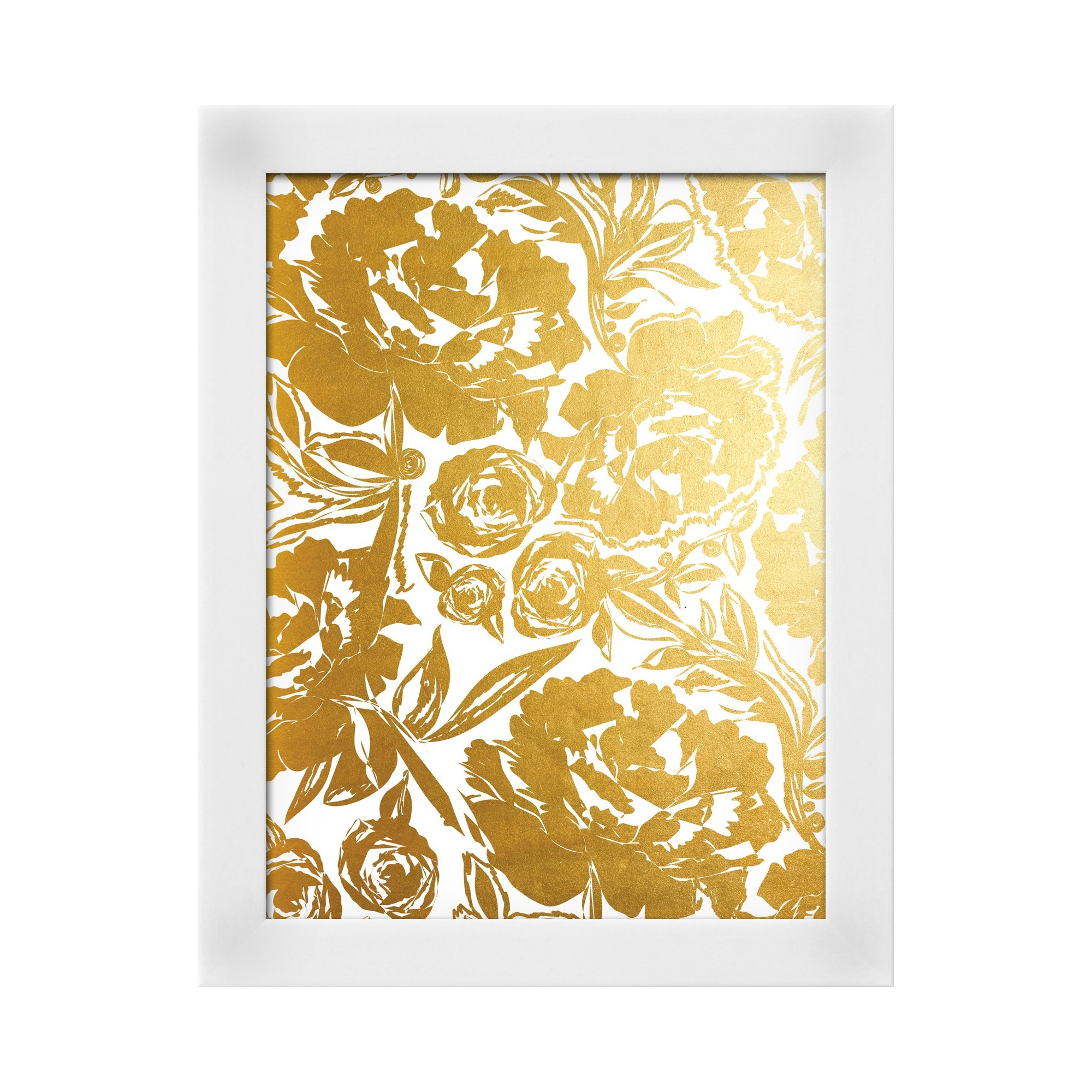 Arianna In Gold White Wood Framed Art Print | White wood and Products