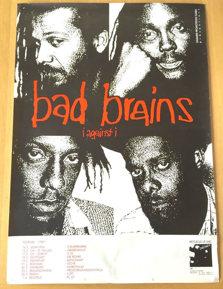 details about bad brains -vintage tour poster 1987 hardcore punk, Hause ideen