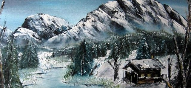 mountains by bob ross