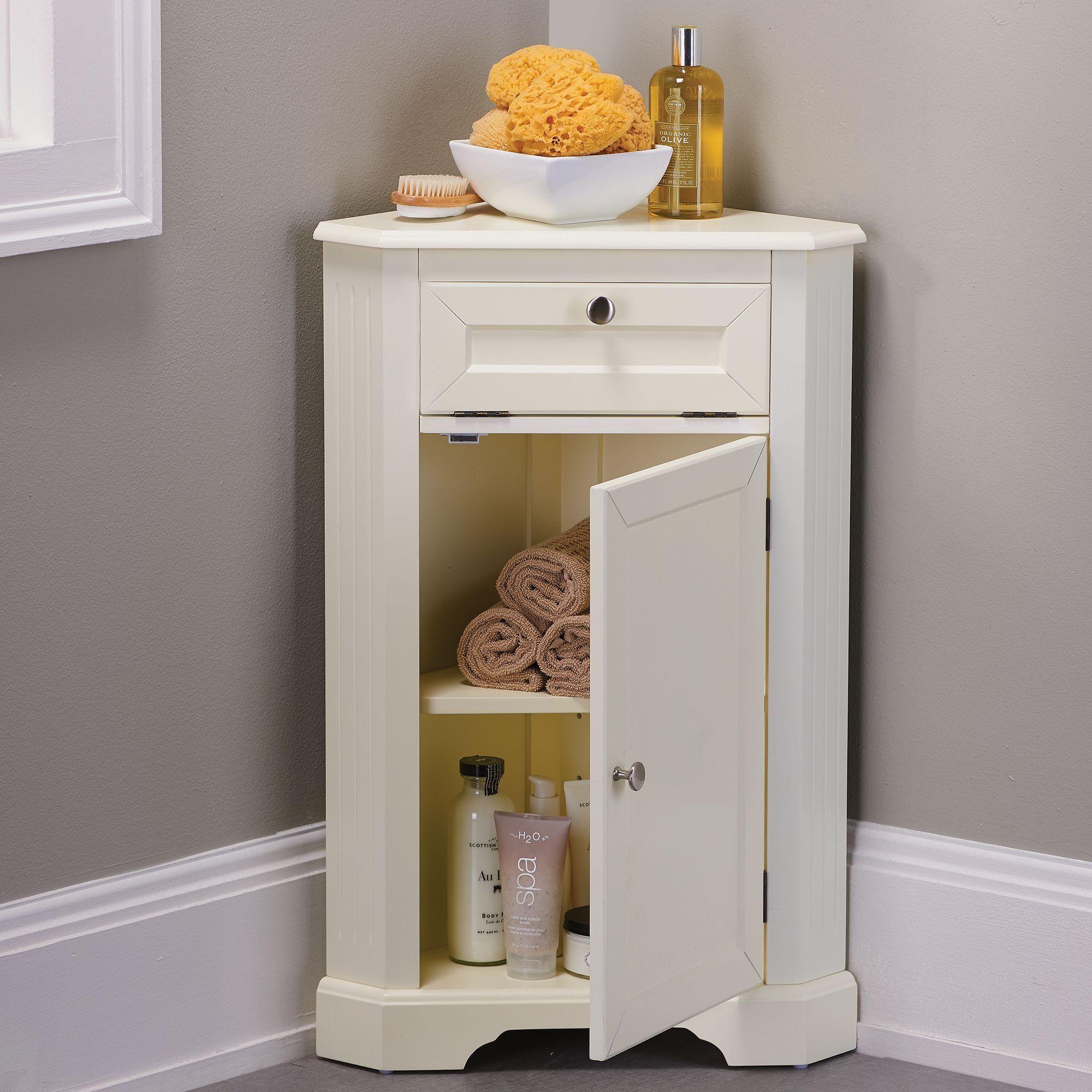Weatherby Bathroom Corner Storage Cabinet  Httpdivulgamaisweb Adorable Small Corner Cabinet Bathroom Decorating Design