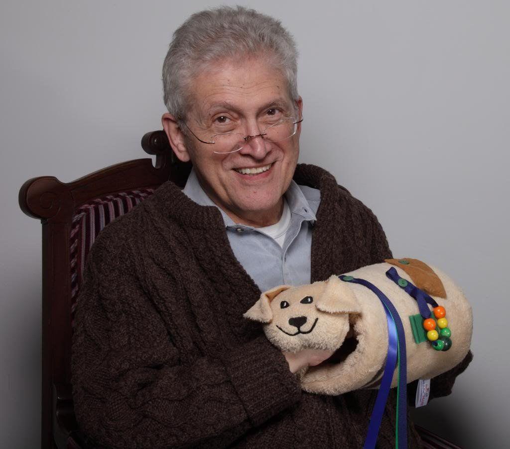 Twiddle Muff Puppy | Alzheimer's | Fidget quilt, Alzheimers