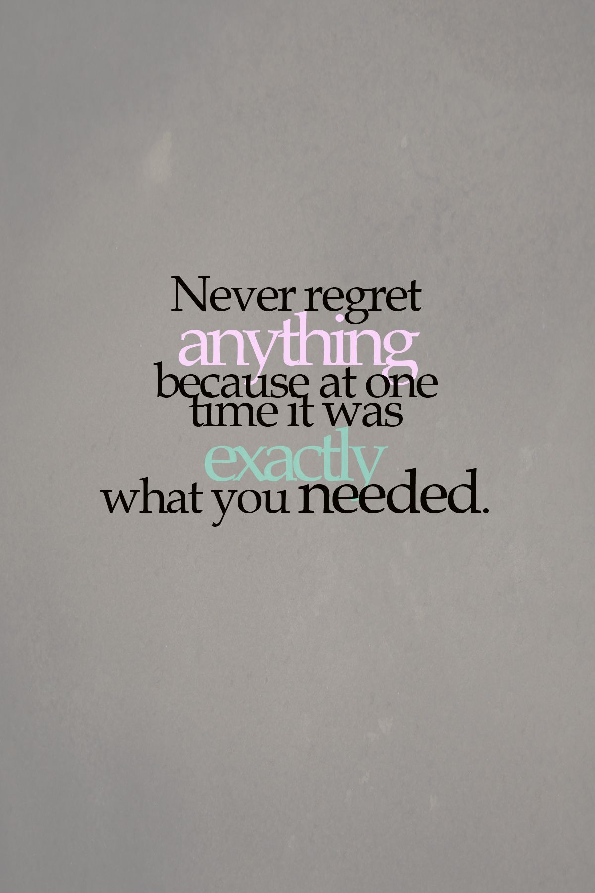 I do believe everything happens for a reason!