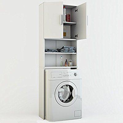 Awesome Badregal Hochschrank Waschmaschine Bad Schrank Badezimmerschrank Überbau  Weiss