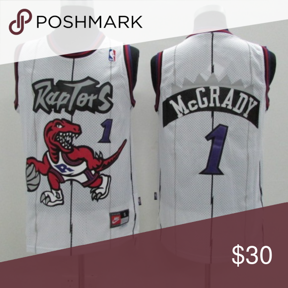 free shipping 3623e bb710 Tracy McGrady Toronto Raptors #1 Throwback Jersey brand new ...