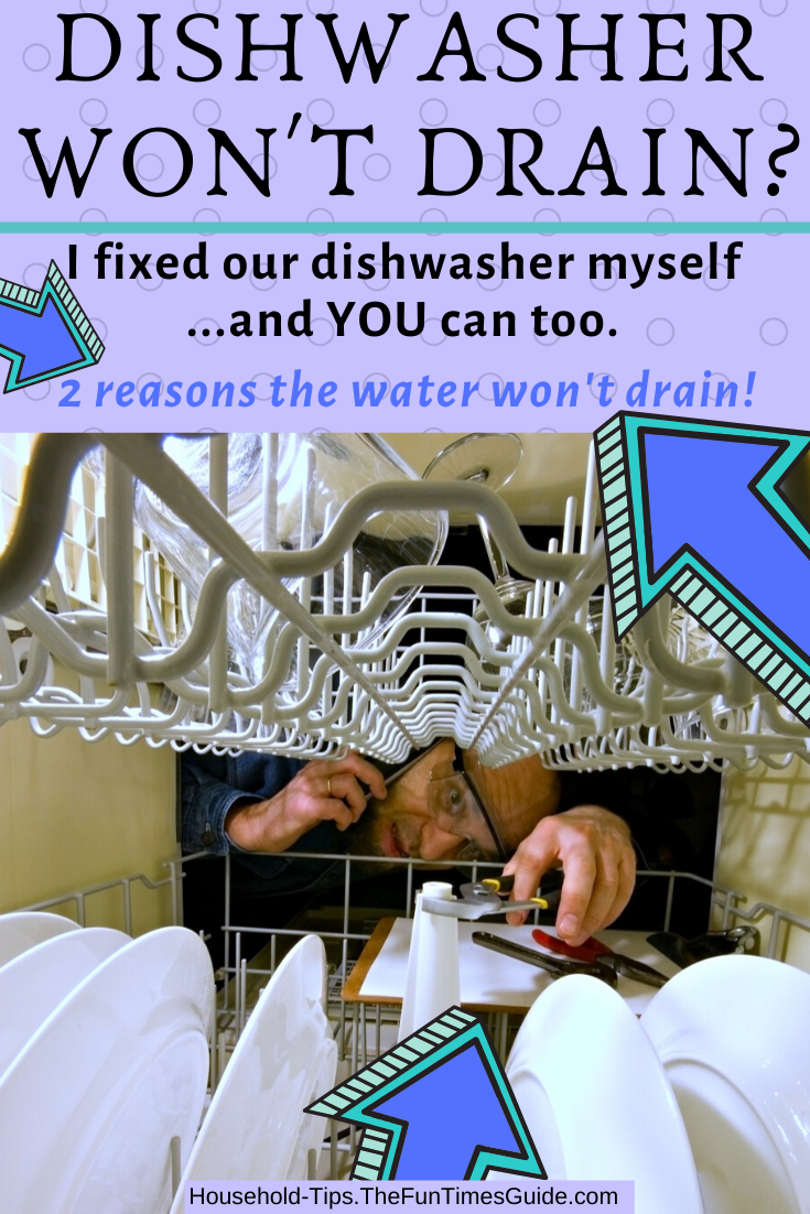 I Fixed Our Dishwasher Water Not Draining Here S How I Did It Dishwasher Wont Drain Unclog Dishwasher Dishwasher Drain Hose