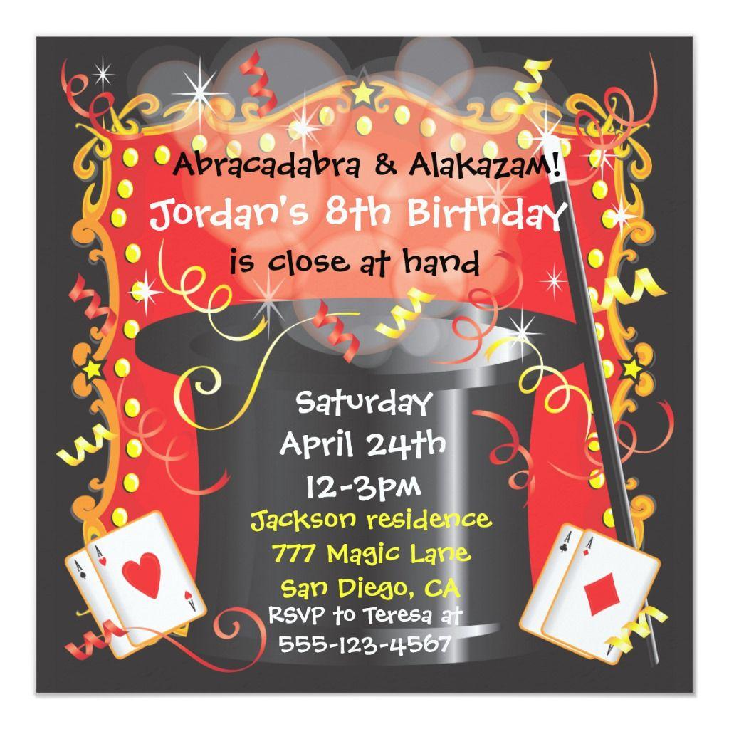 Magic Magician Party Invitation in 2020