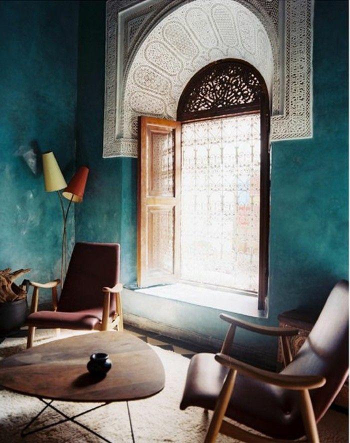 Die wunderschöne und effektvolle Wandfarbe Petrol! - Wandgestaltung Wohnzimmer Grau Lila