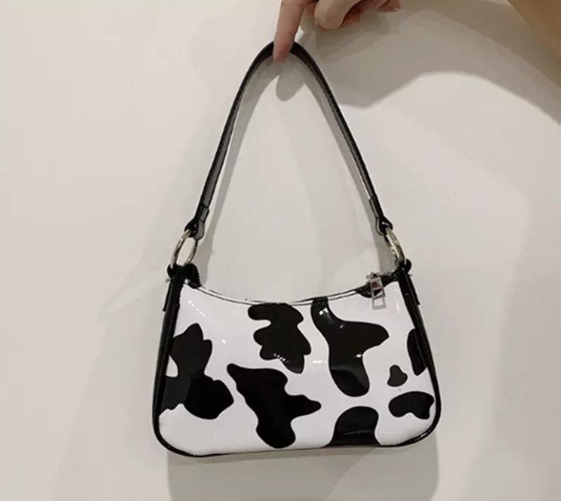 Bolso de hombro Y2K / bolso de vaca / bolso de baguette  – Bolsa