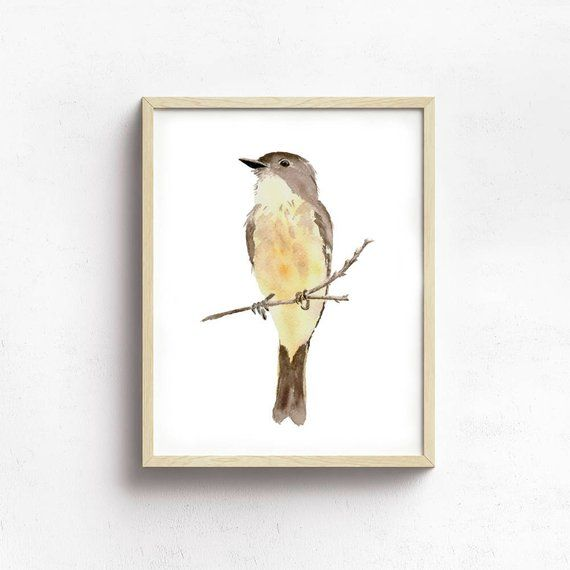 Phoebe Print From My Original Watercolor Painting, Yellow