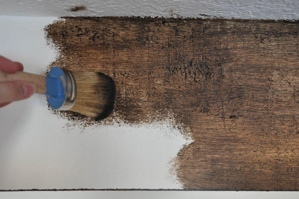 Diy Painted Faux Wood Ceiling Beams Faux Wood Paint Wood Beam Ceiling Diy Ceiling