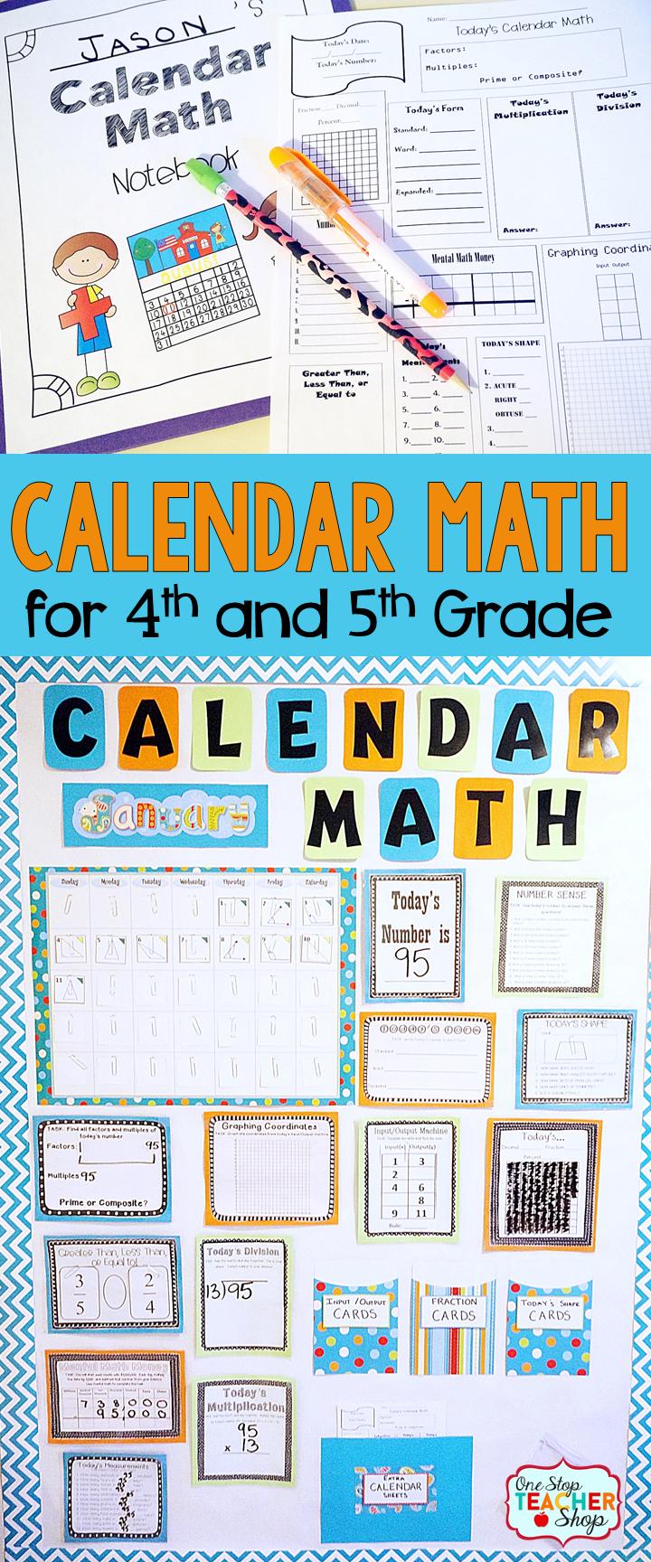 Calendar Math BUNDLE for Daily Math Review | Bulletin board, Math ...