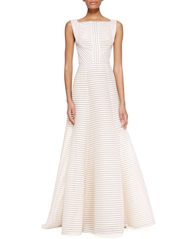 Elie saab sleeveless highneck gown in jasmine white wedding