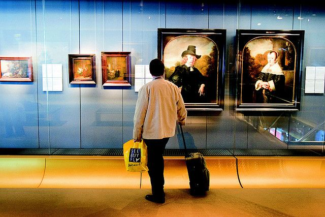 The Rijksmuseum at Schiphol... it's right in the airport... and it's free