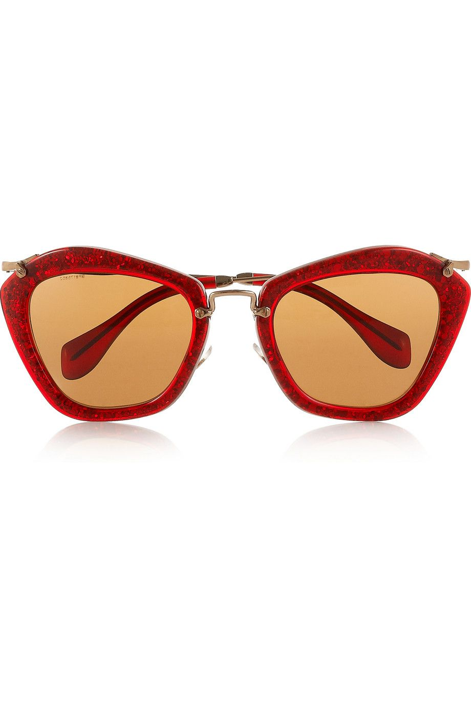 Miu Miu cat eye red glitter sunglasses. I will forever want these ... 79b4166892322